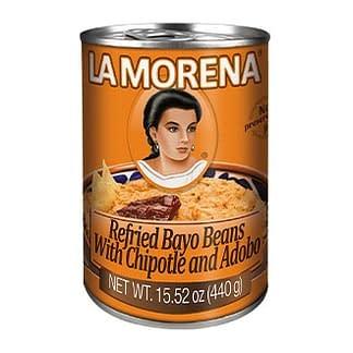 refried bayo beans with chipotle and adobo la morena 440g