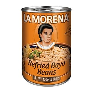 refried bayo beans la morena 440g