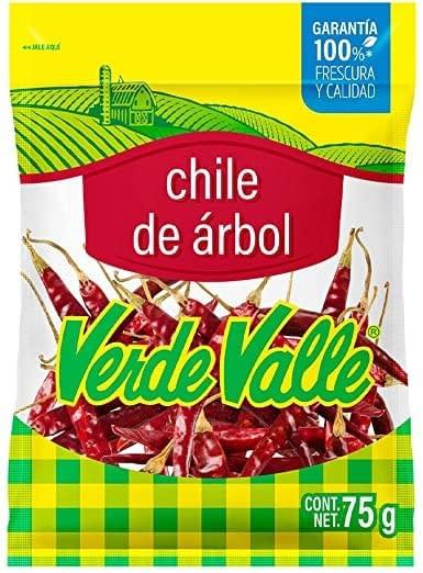 arbol dried chili 75g