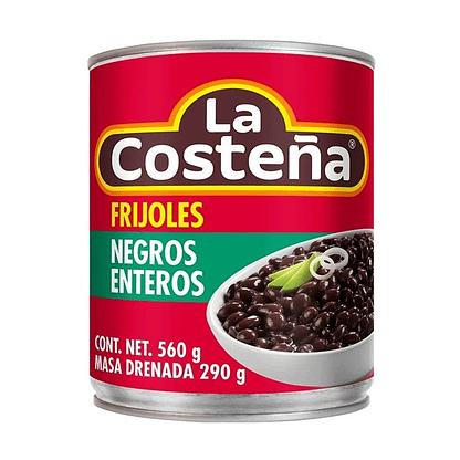 black beans whole la costeña 560g