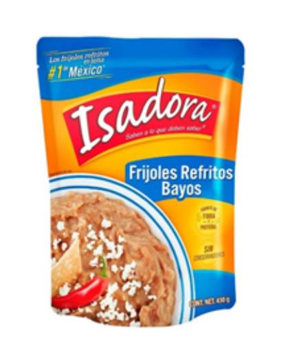 refried bay beans isadora 430g