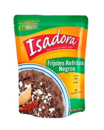 refried black beans isadora 454g